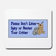 Don't Litter! Mousepad