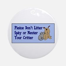 Don't Litter! Ornament (Round)