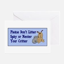 Don't Litter! Greeting Card