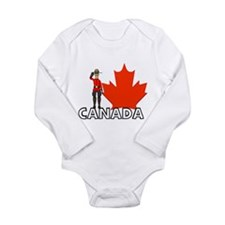 Cute Moose canada Long Sleeve Infant Bodysuit