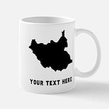 South Sudan Silhouette (Custom) Mugs