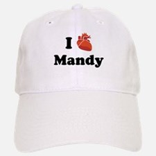 I (Heart) Mandy Baseball Baseball Cap