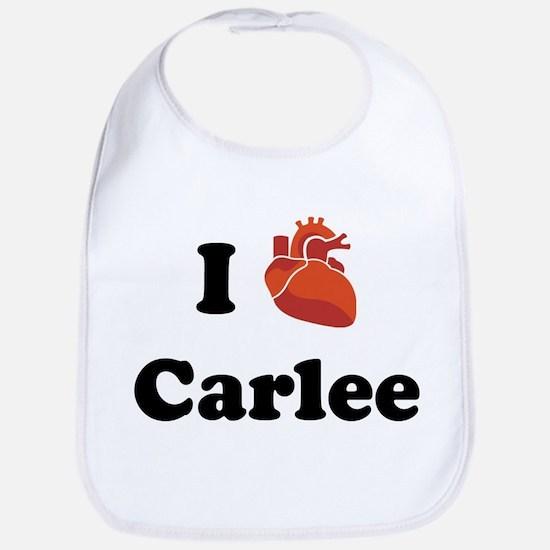 I (Heart) Carlee Bib