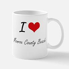 I love Monroe County Beach Florida artistic Mugs