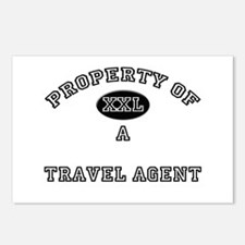 Property of a Travel Agent Postcards (Package of 8