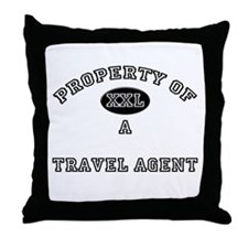 Property of a Travel Agent Throw Pillow