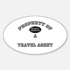 Property of a Travel Agent Oval Decal