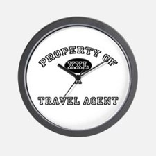 Property of a Travel Agent Wall Clock