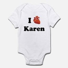 I (Heart) Karen Infant Bodysuit