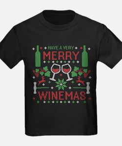 Merry Winemas Wine Ugly Christmas Sweater T-Shirt