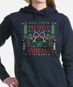 Merry Winemas Wine Ugly Christmas Sweater Women's