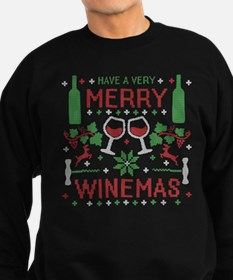 Merry Winemas Wine Ugly Christmas Sweater Sweatshi