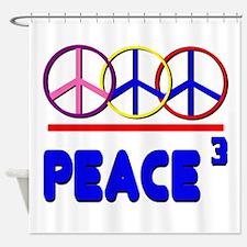 Peace Trio Shower Curtain