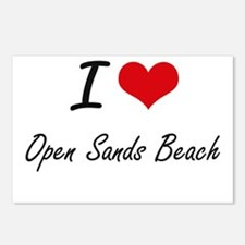 I love Open Sands Beach F Postcards (Package of 8)
