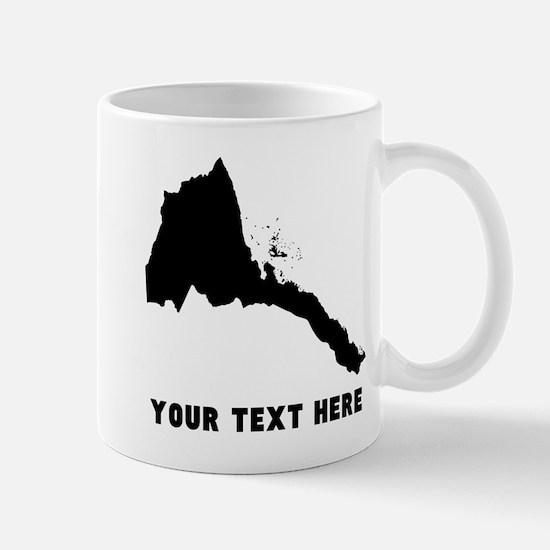 Eritrea Silhouette (Custom) Mugs