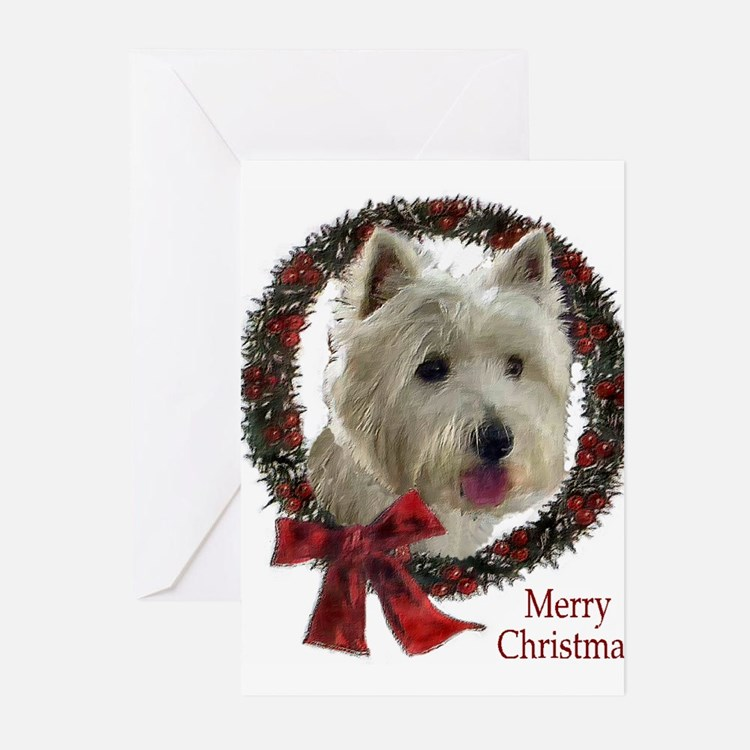 Cute Westhighland white terrier holiday Greeting Cards (Pk of 10)