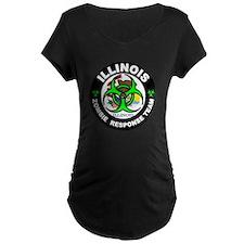 Illinois Zombie Response Tea Gre Maternity T-Shirt