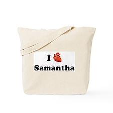 I (Heart) Samantha Tote Bag
