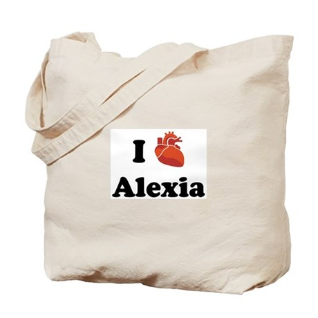 I (Heart) Alexia Tote Bag