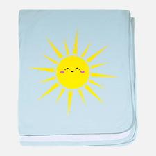 Happy Sun baby blanket