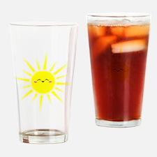 Happy Sun Drinking Glass
