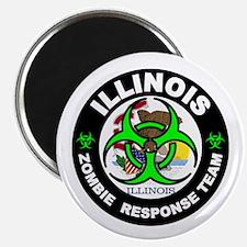 Illinois Zombie Response Tea Green Magnets