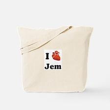 I (Heart) Jem Tote Bag