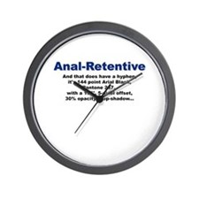Anal-Hyphen-Retentive Wall Clock