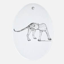 Thylacine Turning Oval Ornament