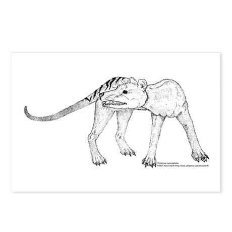 Thylacine Turning Postcards (Package of 8)