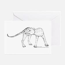 Thylacine Turning Greeting Cards (Pk of 10)