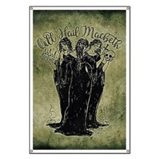 Witches All Hail Macbeth Banner