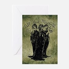 Witches All Hail Macbeth Greeting Cards