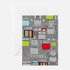 Cute Geeks technology Greeting Card