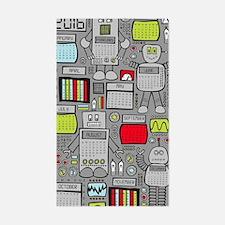 Cute Geeks technology Sticker (Rectangle)