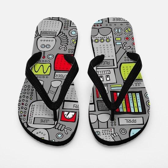 Unique Geek Flip Flops