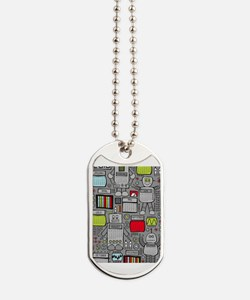 Cute Robot Dog Tags