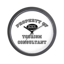 Property of a Tourism Consultant Wall Clock