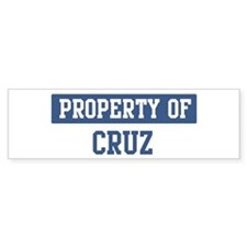 Property of CRUZ Bumper Bumper Sticker