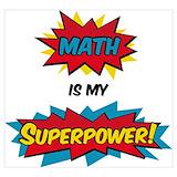 Superhero math Posters
