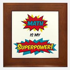 Funny Super hero Framed Tile