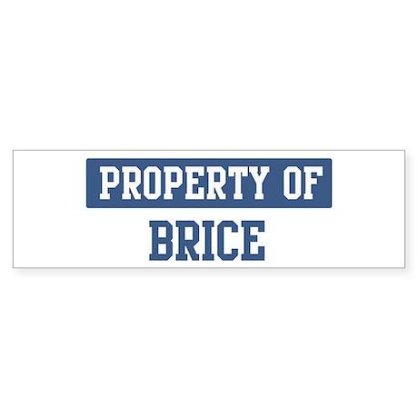 Property of BRICE Bumper Sticker