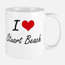 I love Stuart Beach Florida artistic design Mugs