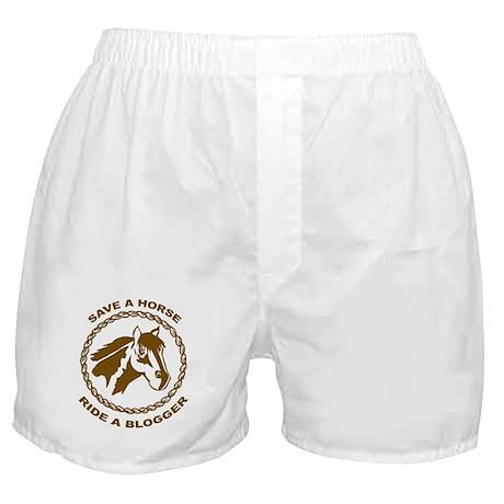 Ride A Blogger Boxer Shorts