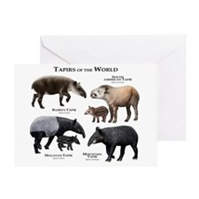 Tapirs of the World Greeting Card