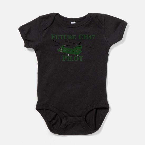 Cute Chinook Baby Bodysuit