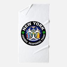 NY ZRT White Beach Towel
