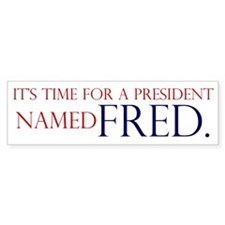 Time for Fred Bumper Bumper Sticker