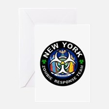NY ZRT White Greeting Cards