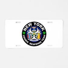 NY ZRT White Aluminum License Plate